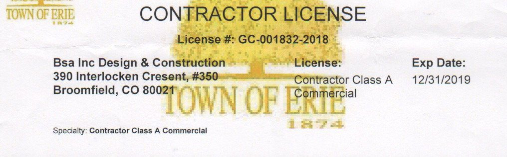 Colorado Contractor License
